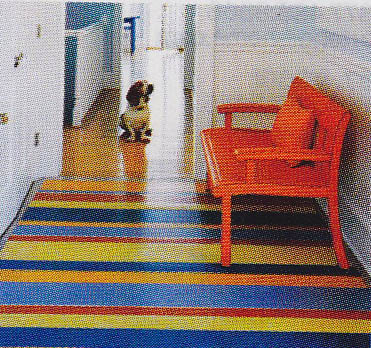 Sorry  Itu0027s A Little Pixelated, But How Fun To Make Linoleum Look Like A Rug!  Talk About Great For The Messy Four Legged Family Members!